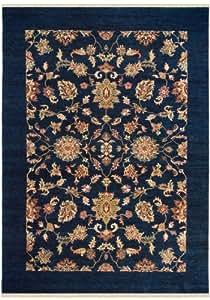 lys e orient teppich mit klassischen ornamenten und aktuellen farben blau 200x200 cm. Black Bedroom Furniture Sets. Home Design Ideas