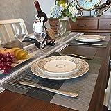 GODTEN Platzdeckchen (8er Set) Platzset Abwischbar - Hitzebeständig und Abgrifffeste Waschbare Tischmatte - Grau Tischset Kunststoff für Küche Speisetisch - 30x45cm (8er, A3) - 3