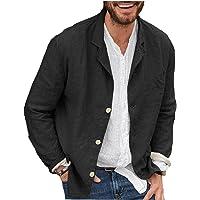 Men Blazer Jacket Loose Open Front Long Sleeve Blazer for Spring Autumn Black S