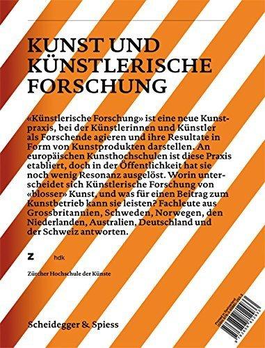 Art and Artistic Research: Music, Visual Art, Design, Literature, Dance (Verlag Scheidegger & Spiess-Zurich University of the Arts Yearbook) (2010-02-15)