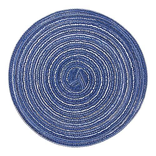 YFairy Runde Untersetzer – Leinenweben rund Untersetzer Tassenuntersetzer Platzset Tee Kaffee Pad Weiche Heimdekoration blau
