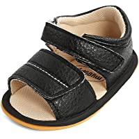 MK MATT KEELY Baby Boy Girl Sandals First Walking Leather Summer Shoes with Soft Rubber Sole for Newborn Infant Toddlers