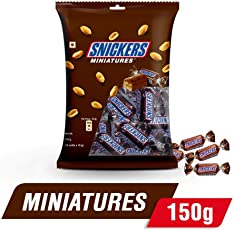 Snickers Peanut Filled Chocolate Miniatures, 150g Pouch