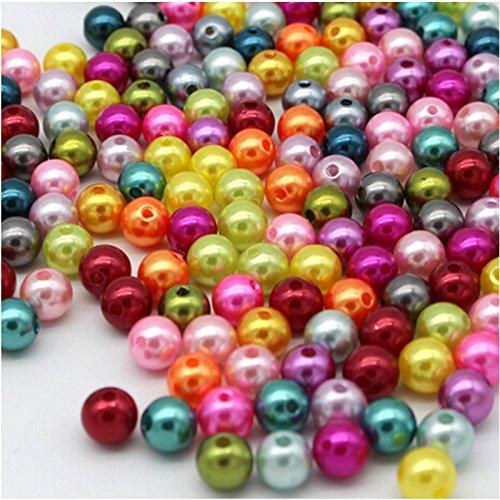 200Stück perlenbesetzt Farben Mix Perlmutt-Perlen Accessoires 6mm Erstellen und Gestalten Sie Ihre eigenen Halsketten Armbänder Ohrringe gargantillas Personalisieren Geschenke Weihnachten, Geburtstag, Freundinnen.. von Open Buy