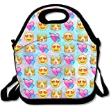 ZDTSQWY Lunch Boxes King Emoji Lunchbox Food Container Lunch Tote Handbag Cool Fashion Designer Lunch Box For Work