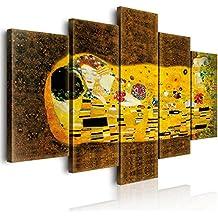 Lupia Cuadro Sobre Lienzo Vogue World «El Beso», de Klimt, 100 x