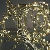 Lichtschlauch 9 m mit 216 LED warmweiß für Garten außen von Gartenpirat