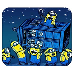 Despicable Me Cute Minions with Tardis Doctor Who Customized Nice Design Rectangle Mousepad