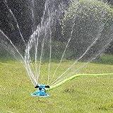 Dkings Rociador de césped automático, 360 Grados rotatorios de Agua de jardín rociador de césped Sistema de riego Ultra Mudo rociador de césped-Juegos de Agua para niños