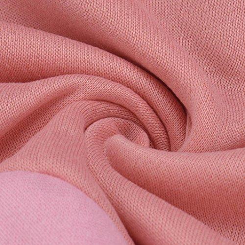 Felpa con cappuccio per le donne, FEITONG maniche lunghe maglione casuale pullover cappotto incappucciato Rosa