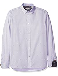 Ted Baker Men's Giggles-Ls Circle Geo Shirt