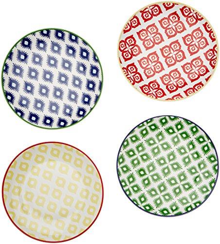 Paperproducts Design Belize Salatteller/Dessertteller, 25 x 23 x 6,3 cm, mehrfarbig, 4 Stück