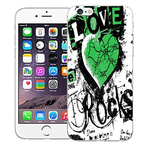 "Nouveau iPhone 6 4.7"" inch clip on Dur Coque couverture case cover Pare-chocs - mexican owls Motif avec Stylet love rocks green"