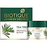 Biotique Tea Tree Skin Clearing Eye Mask, Green, 15 g