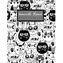 Homework Planner Weekly to do list: Student Planner Journal Tracker Notebook Education Teaching Studying Journal size 8.5x11 Inches (Homework Assignment Planner)