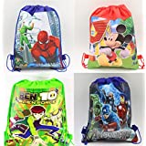 Gifts Online Cartoon Printed Kids Haversack Birthday Party Return Gift for Boys (Pack of 12)