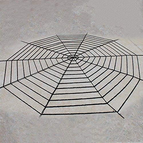 Lightclub Spider Web Net Netz Spooky Halloween Party Home Bar Dekoration Prop Spinnennetz 5M Schwarz (Licht Halloween Spider Web-schwarz)