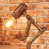 Light Vintage Lampe de table industrielle Lampe de table Steampunk Style de cheminée rustique Lampe de bureau pour salle de séjour Salle de séjour Chambre Bibliothèque Éclairage de bureau de l'hôtel Hauteur 30-40 Cm ( Color : Height 30cm )