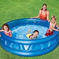 Intex Piscina hinchable infantil y familia redonda 188x 46cm Soft Side Pool
