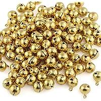Naler 120 Stück Glöckchen Golden Schellen Glocken aus Kupfer für Schmuck Basteln Geschenkverpackung Weihnacht Fest Dekoration, 12 mm
