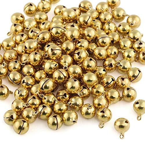 Naler 120Unidades cascabeles Golden Abrazaderas Campanas de Cobre para Joyas Manualidades Paquete...