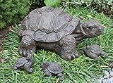 Steinfigur Schildkröte 4er Set - Dunkelbraun, Deko, Figur, Garten, Stein, frostsicher