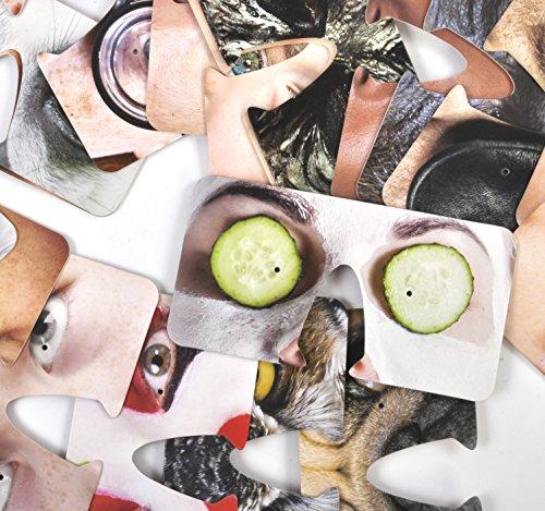 Unbekannt Bierdeckel Face Coasters von Gift Republic, Karton, Mehrfarbig, 15,5x3,5x13cm