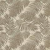 Fabulous Fabrics Dekostoff Halbpanama Palme 5 – grau —
