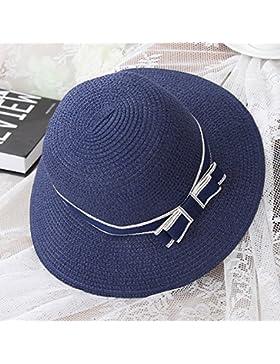 RAN Sombrero de paja de mujer Sombrero de pescador de vacaciones de verano Sombrero de playa al aire libre Sombrero...