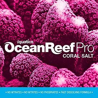 iQuatics Ocean Reef Pro Marine Saltwater Coral Premium Aquarium Salt - 10KG - Refill 12