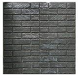 Papier-peint briques 3D, Mousse autocollante PE amovible pour salon sq ft 3.875/pcs (nouveau style 5 pièces gris)