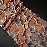 Unbekannt Stereo Kopfsteinpflaster Wasserdichte Tapete PVC Aufkleber Schlafzimmer Wohnzimmer Hintergrund Dekorative Wandaufkleber 10 * 0,53 Mt
