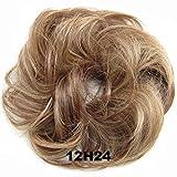 diirm Parrucca di moda Anello per capelli Ricci Sposa Trucco Bun Fiori Chignon Coda di cavallo Parrucchino Extension Strumenti per lo styling