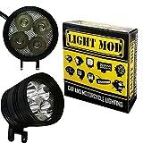 #3: 2pc. LightMod 20 Watt 4 LED Metal Black Bike Auxillary Fog Lamp Light Spot Light Bulb Offroad Motorcycle LED