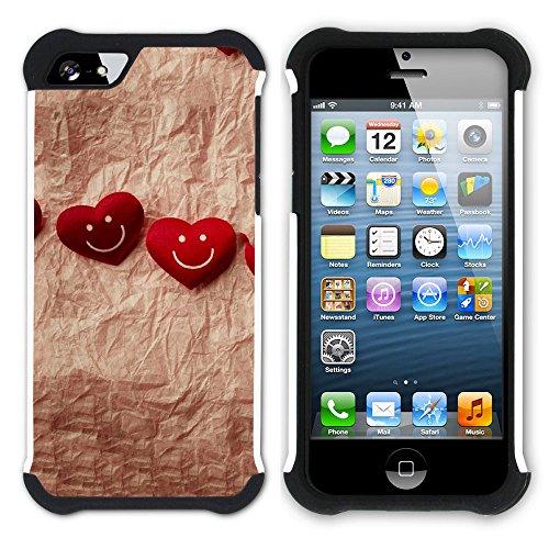 Graphic4You Liebe Herz Hart + Weiche Kratzfeste Hülle Case Schale Tasche Schutzhülle für Apple iPhone SE / 5 / 5S Design #46