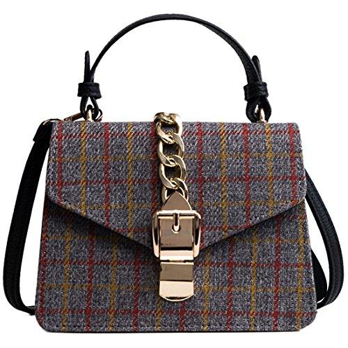 ibella Leather Handbags, Borsa a mano donna Gray