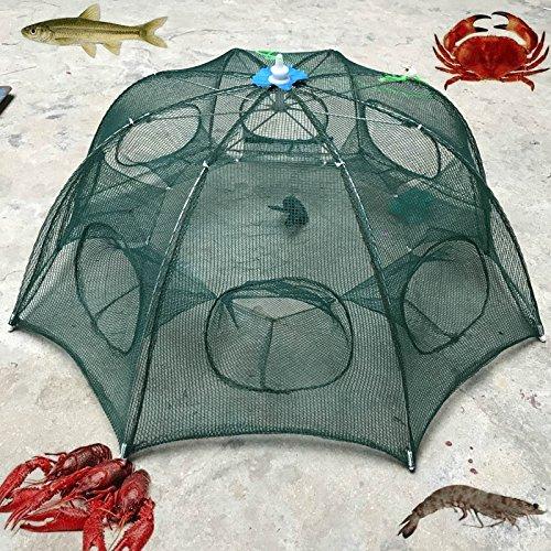 ZREAL 6Löcher Faltbar Angeln Mesh Nylon Crab Garnelen Net Trap Guss Dip Käfig Angeln Köder für Fische Minnow Hummer -