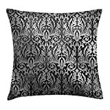 Best Royal Black Hair Products - KAKICSA Sier Throw Pillow Cushion Cover, Graphic Review