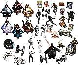 alles-meine.de GmbH 36 tlg. Set _ XL Wandtattoo / Sticker -  Star Wars / Figuren  - Incl. Name -..