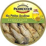 Parmentier Petites Sardines l'Huile d'Olive Vierge Extra Sprattus Sprattus de l'Atlantique Nord-Est 150 g