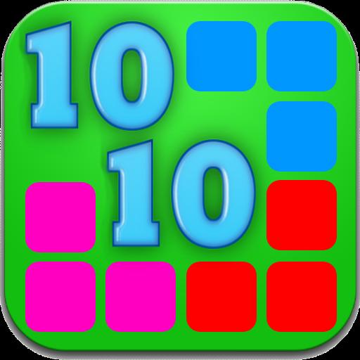 Matrix-rote Lichter (1010 Puzzle Block Mania)