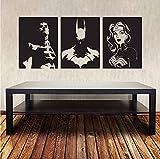 Sold by A Good Decals USA Vendu par Une Bonne Décalcomanies USA Superheroes Sticker Mural Batman Superman Wonder Woman Comics Super Hero Murale Justice League en Vinyle Art Amovible DC