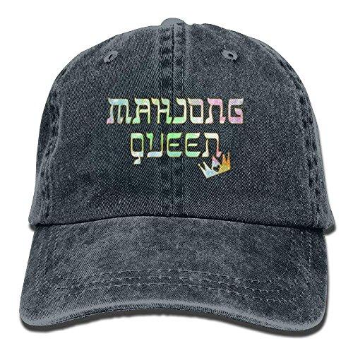 fgjfdjj Mahjong Queen Mahjongg Mah-Jong Chinese Jewish Game1 Adult Sport Adjustable Baseball Cap Cowboy Hat - 6-panel-ball-cap