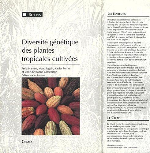 En ligne Diversité génétique des plantes tropicales cultivées pdf, epub ebook