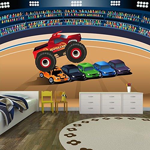 Monster Truck Calabazas Coches En niños Estadio Transport Pared gran mural disponible en 8 tamaños Gigantesco