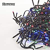 The Christmas Workshop 288 LED Chaser Cluster String Lights, Multi-Coloured