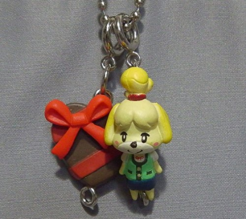 Preisvergleich Produktbild Animal Crossing New Leaf Mascot Collection Figure Keychain~Shizue isabelle and herat chocolate