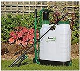 Greenkey Garden & Home Knapsack Sprayer with 4 Nozzle Types, White, 12 Litre