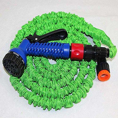 eslifes 50 m pour tuyau extensible avec connecteur en laiton et embout spray