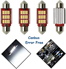 Ralbay Kennzeichenbeleuchtung LED Soffitte 36mm Lampen Leseleuchte LED Auto Innenraumbeleuchtung Innenbeleuchtung Xenon-Weiß Canbus 12 * 4014 SMD / 4 x 36mm LED